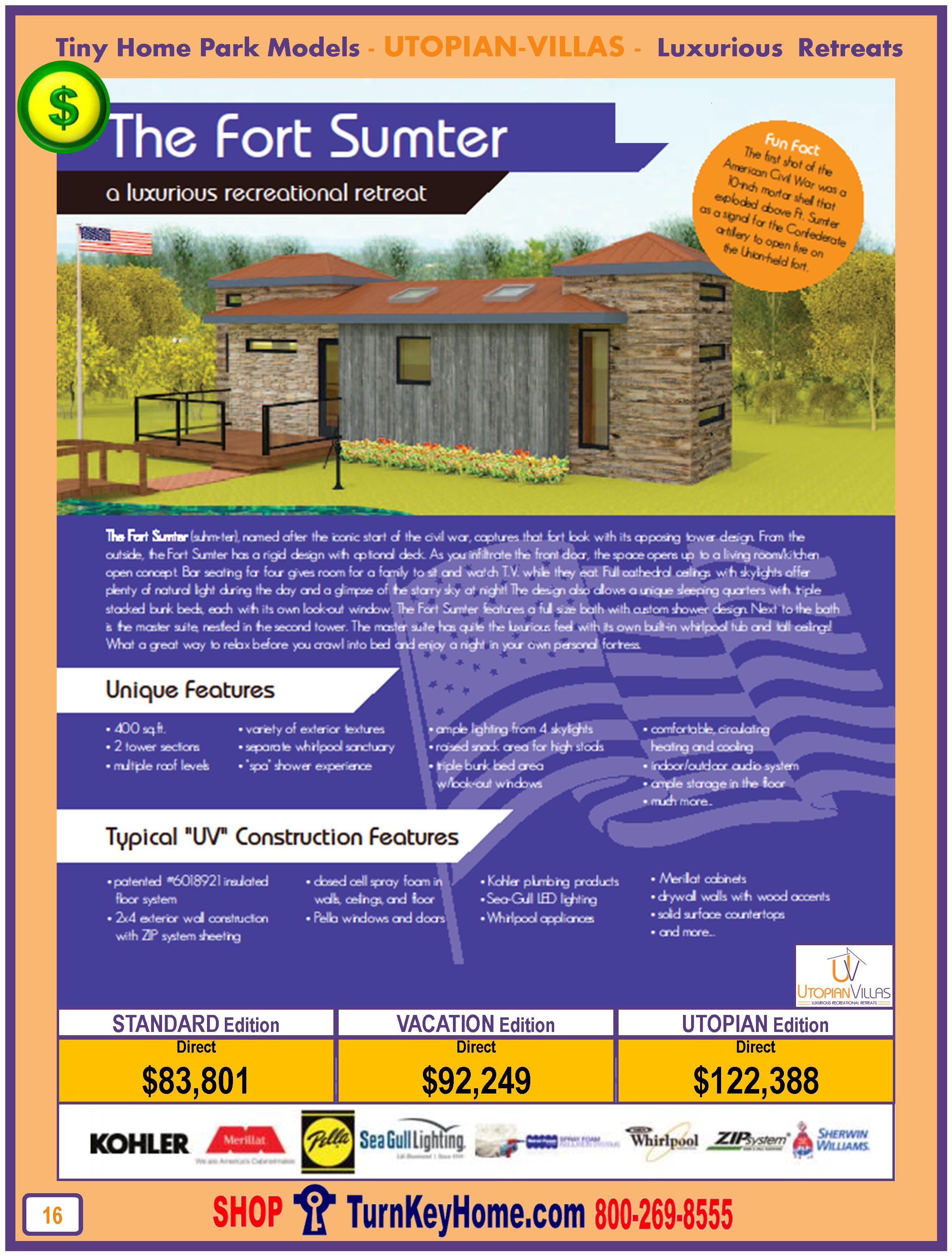 Tiny.Home.Park.Model.Utopian.Villas.FORT.SUMTER.Plan.Price.P16.0116