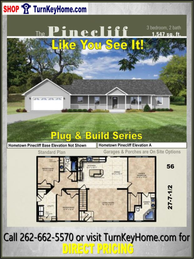 Outstanding Pinecliff Ranch Home 3 Bed 2 Bath Plan 1547 Sf Priced From Download Free Architecture Designs Remcamadebymaigaardcom