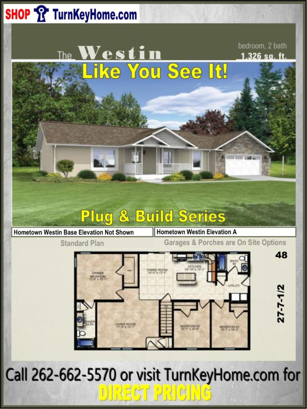 WESTIN Ranch Home 3 Bed 2 Bath Plan 1326 SF Priced from ... on