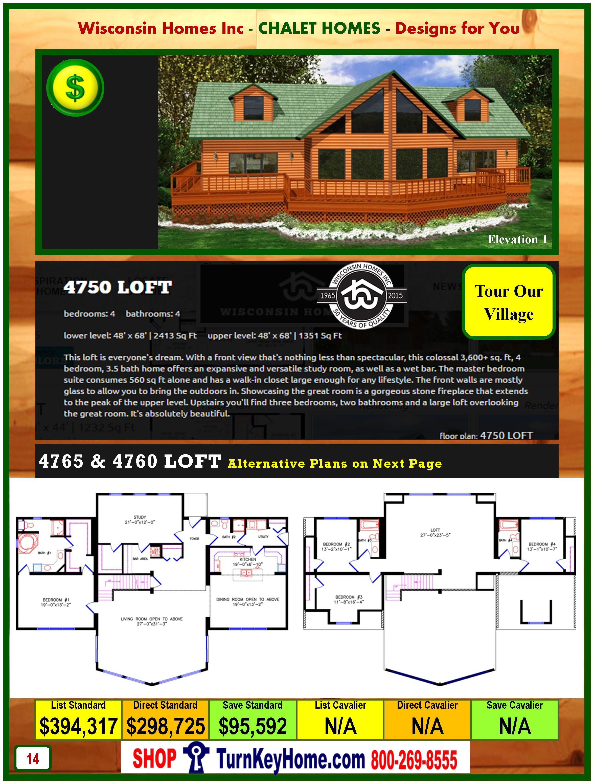 Modular.Home.Catalog.Wisconsin.Homes.Inc.Chalet.Loft.4750.P14.1.1215
