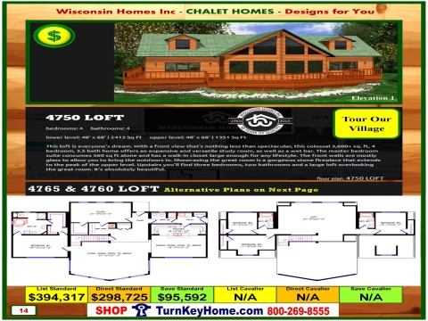 Modular.Home.Catalog.Wisconsin.Homes.Inc.Chalet.Loft.4750.P14.1.1215.p