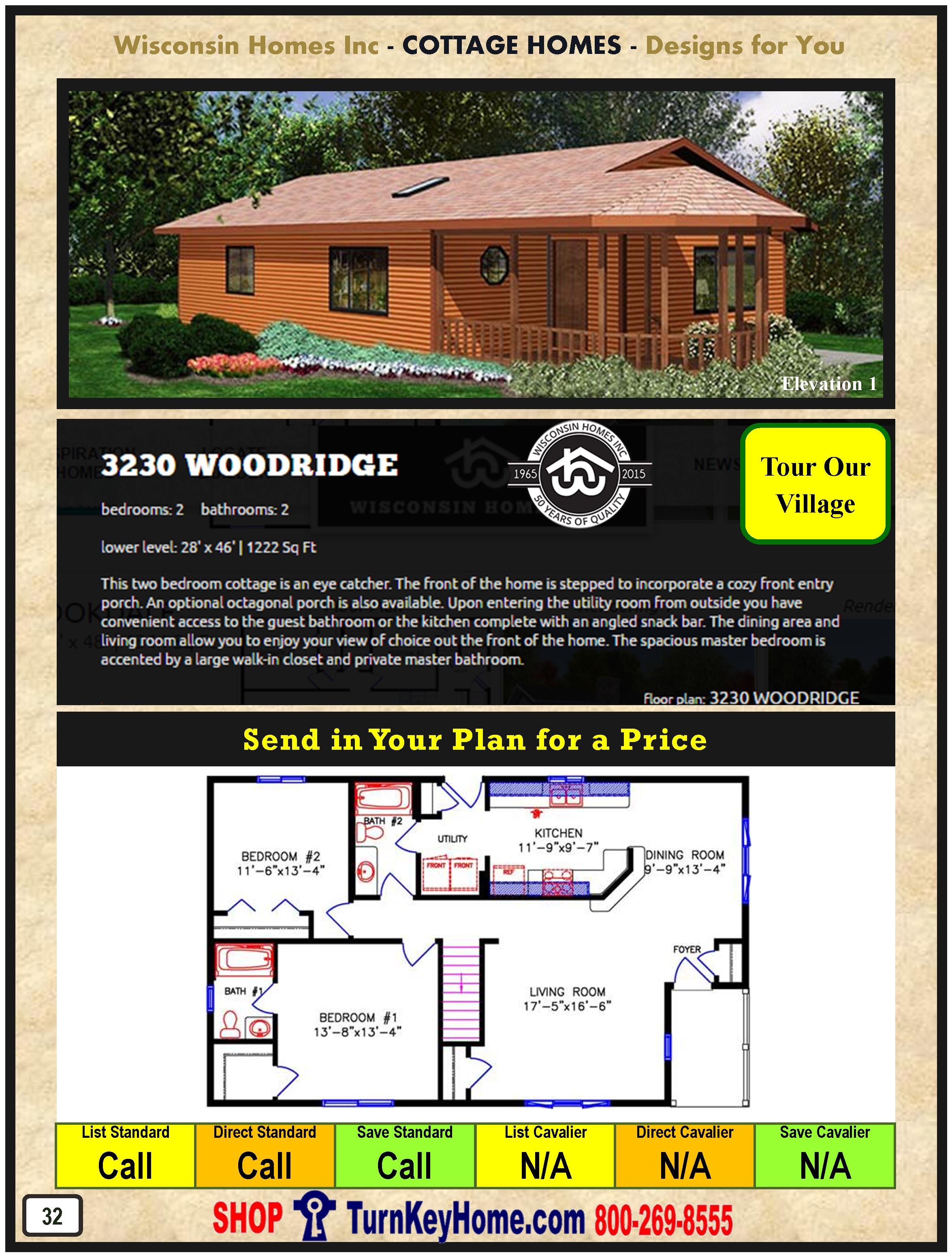 Cottage Modular Home Prices FROM Wisconsin Homes Inc Cottage and ...