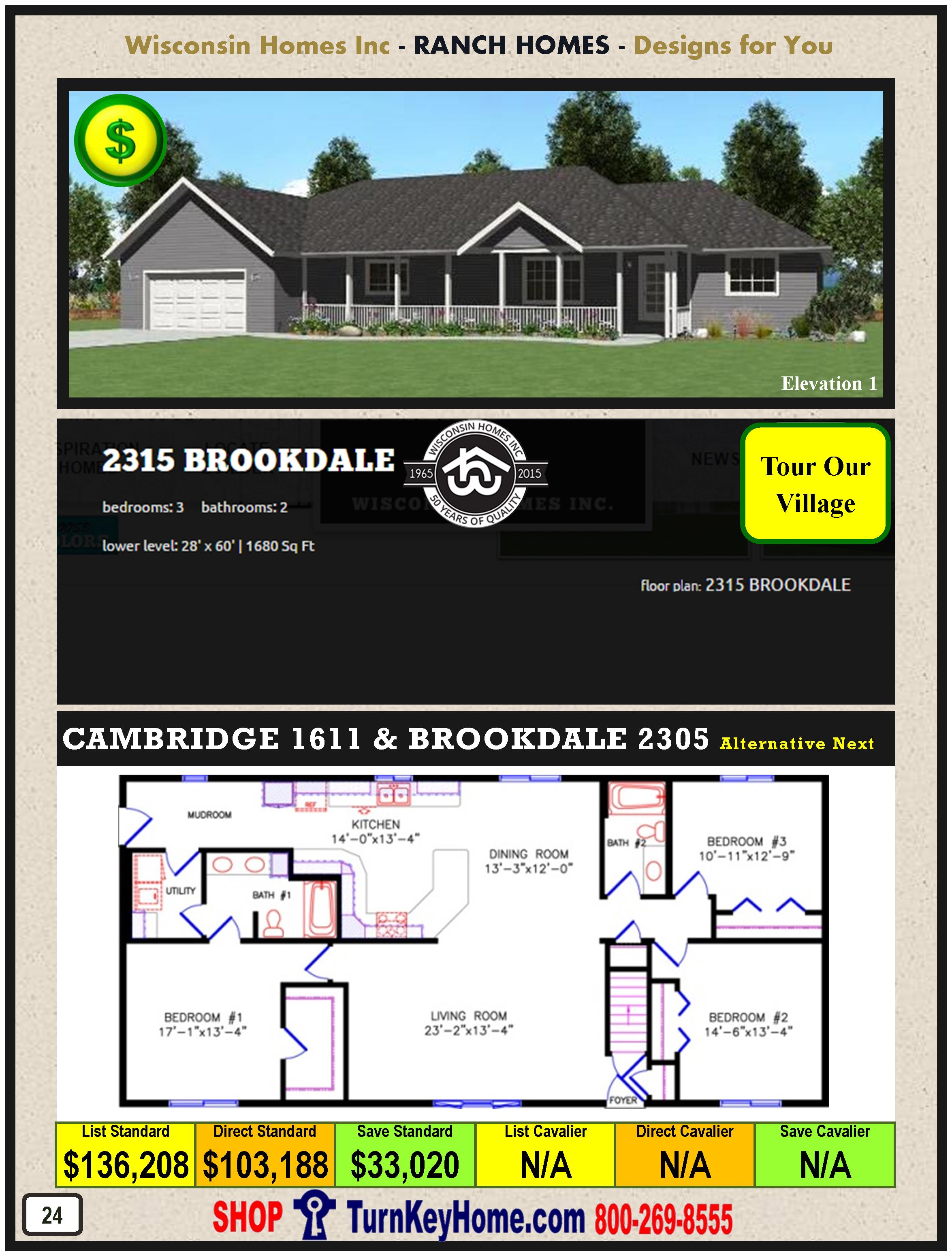 Modular.Home.Catalog.Wisconsin.Homes.Inc.Ranch.Brookdale.2315.1.P24.1215