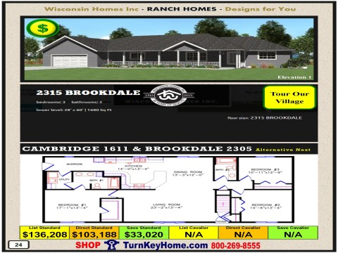 Modular.Home.Catalog.Wisconsin.Homes.Inc.Ranch.Brookdale.2315.1.P24.1215.p