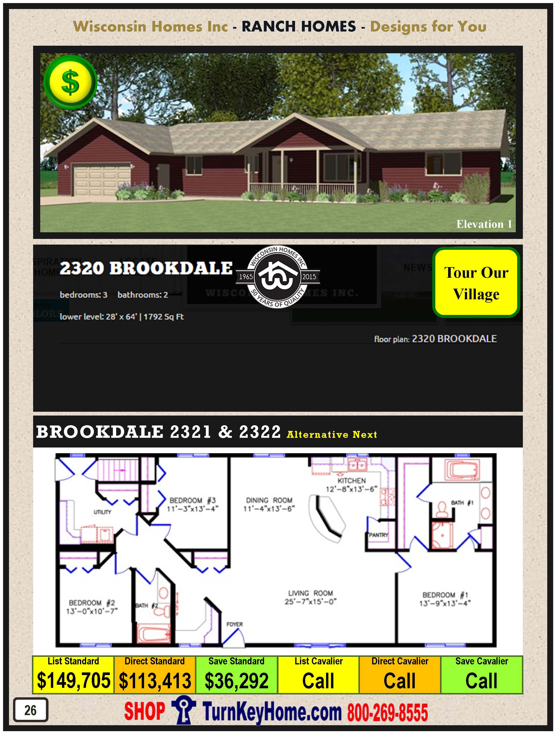 Modular.Home.Catalog.Wisconsin.Homes.Inc.Ranch.Brookdale.2320.1.P26.1215
