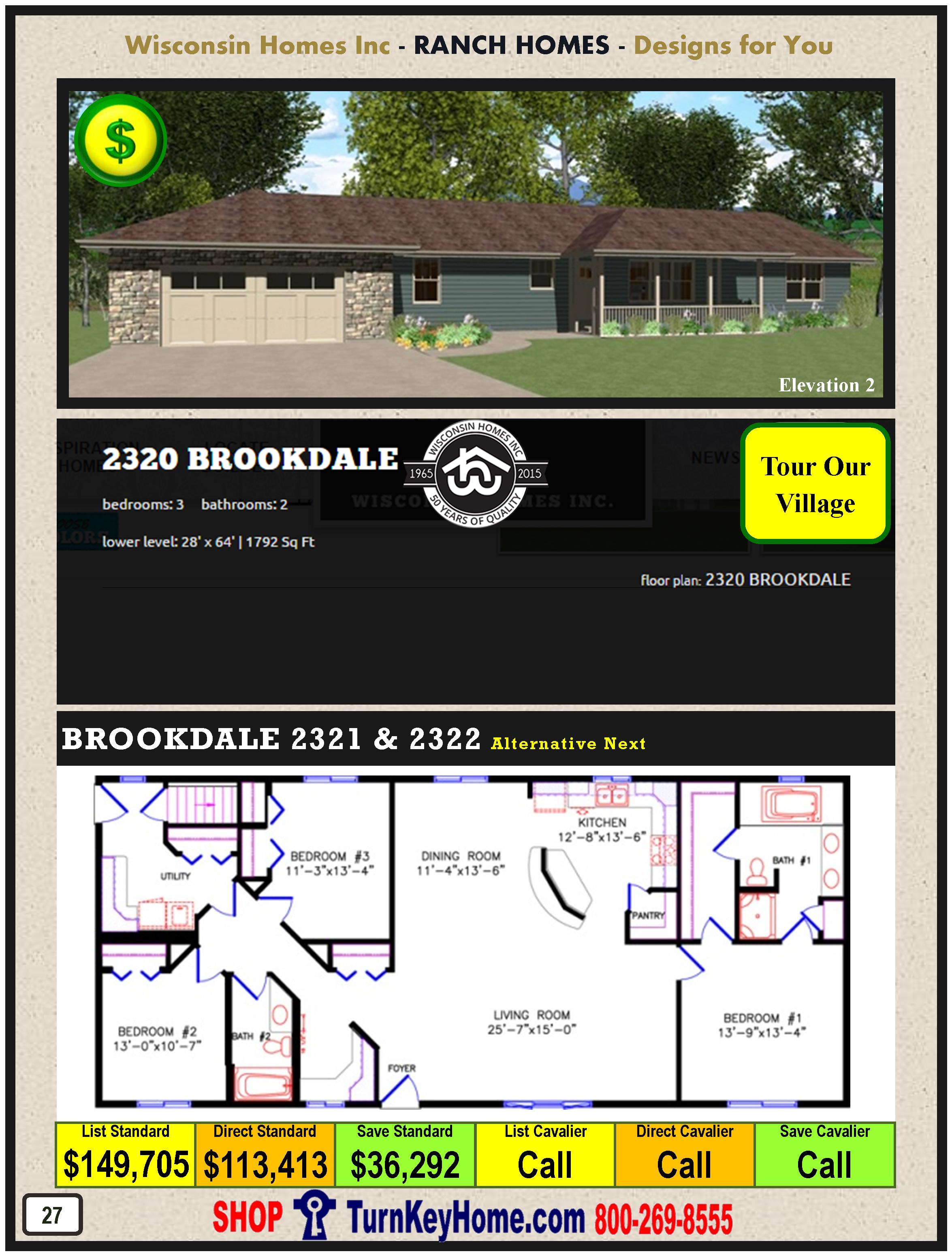 Modular.Home.Catalog.Wisconsin.Homes.Inc.Ranch.Brookdale.2320.2.P27.1215