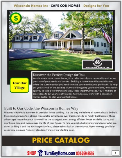 Cape Cod Modular Home Prices FROM Wisconsin Homes Inc Cape Cod, Alpine and Chalet Home Plans