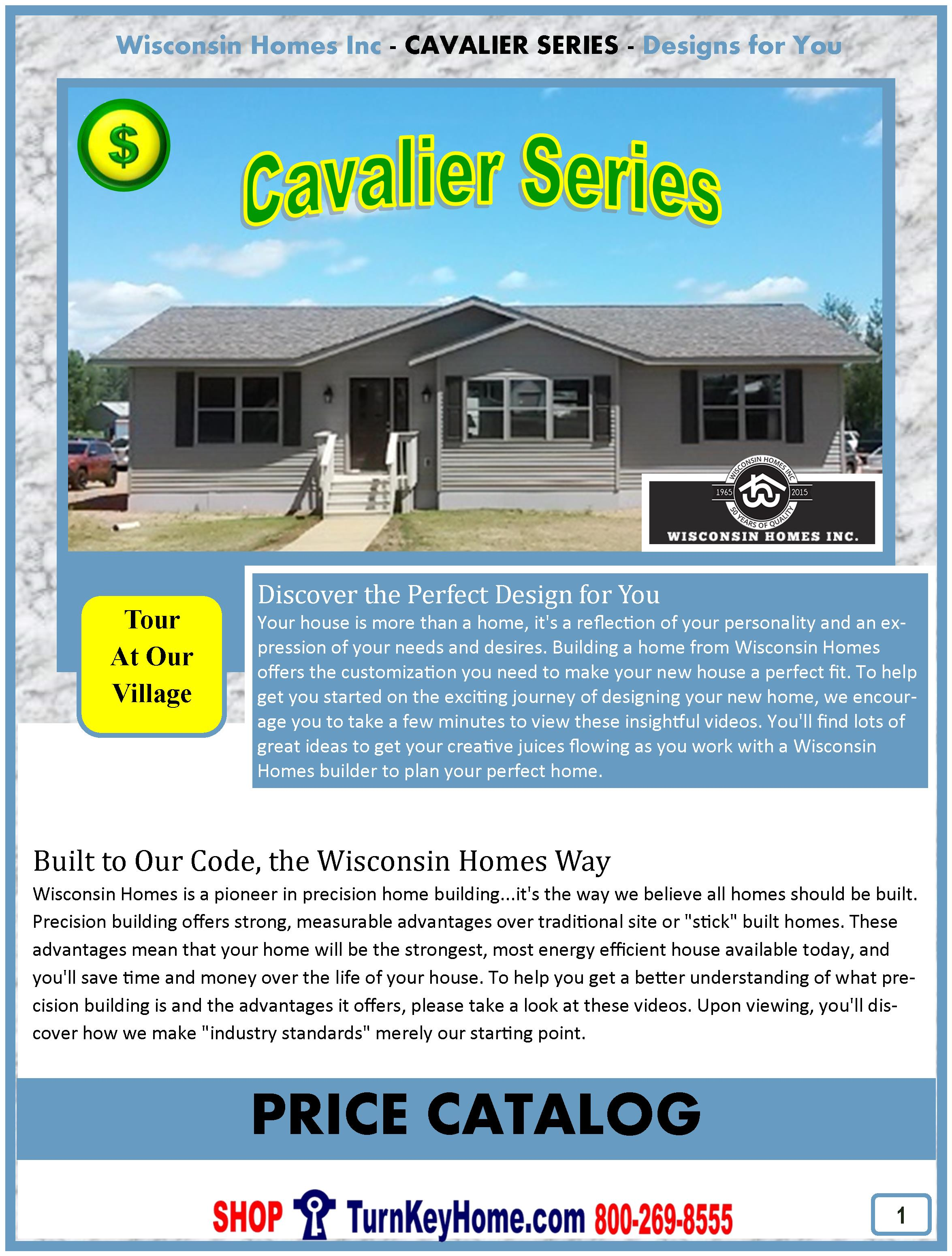 Cavalier Ranch Home Plan and Price Catalog: Wisconsin Homes Inc Modular Homes Marshfield Wisconsin