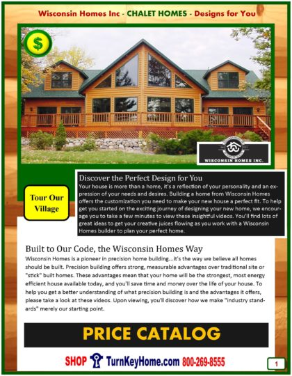 Chalet Modular Home Prices FROM Wisconsin Homes Inc Chalet and Alpine Home plans