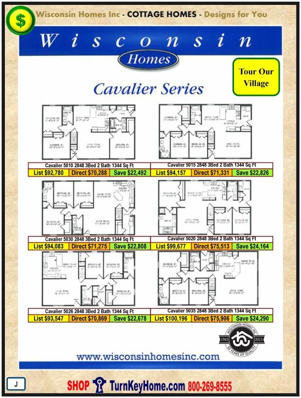 Modular.Home.Plan.Price.Catalog.Wisconsin.Homes.Inc.Cottage.Cavaliar.Standards.PJ.1215