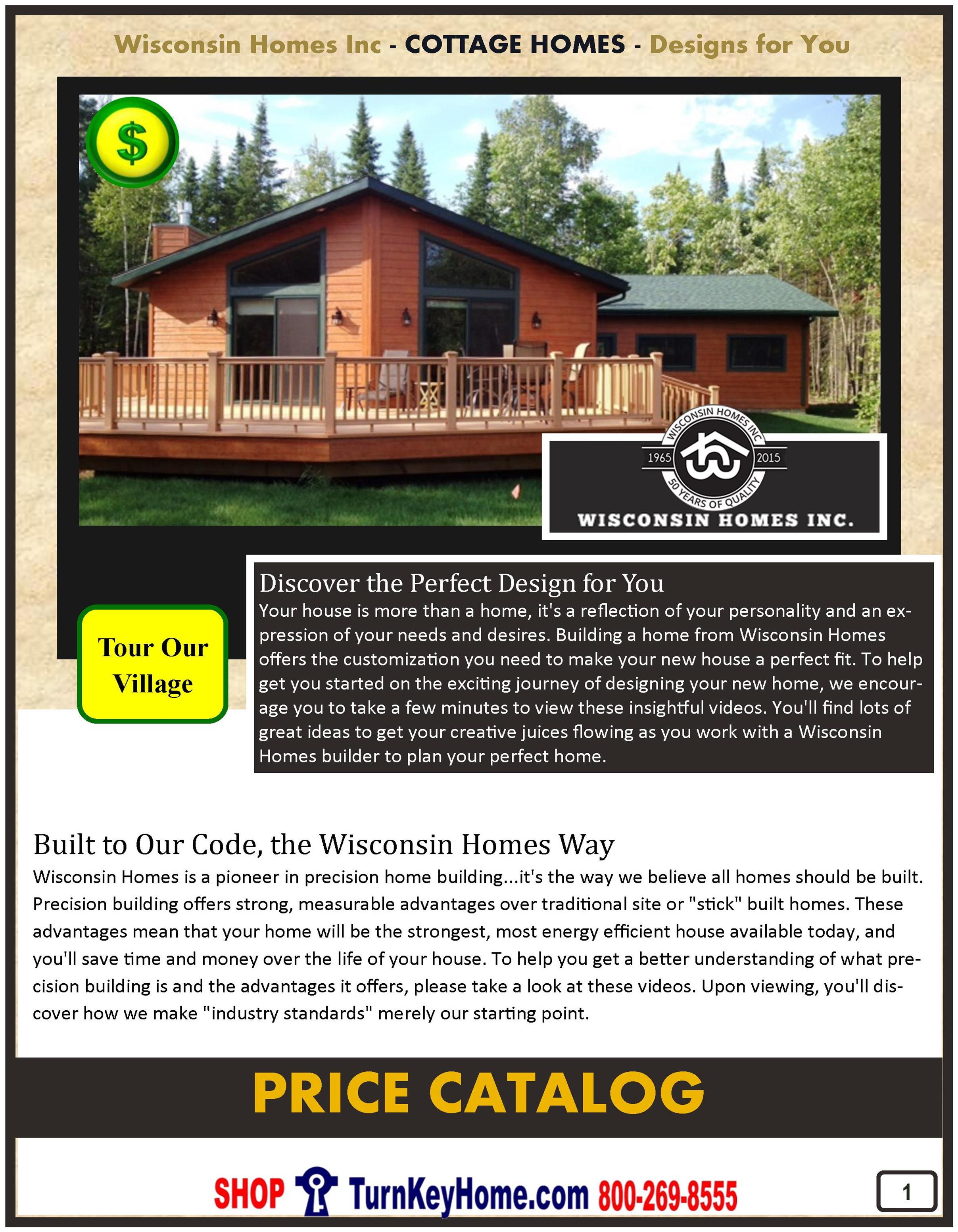 Cottage Home Price Catalog: Wisconsin Homes Modular Homes