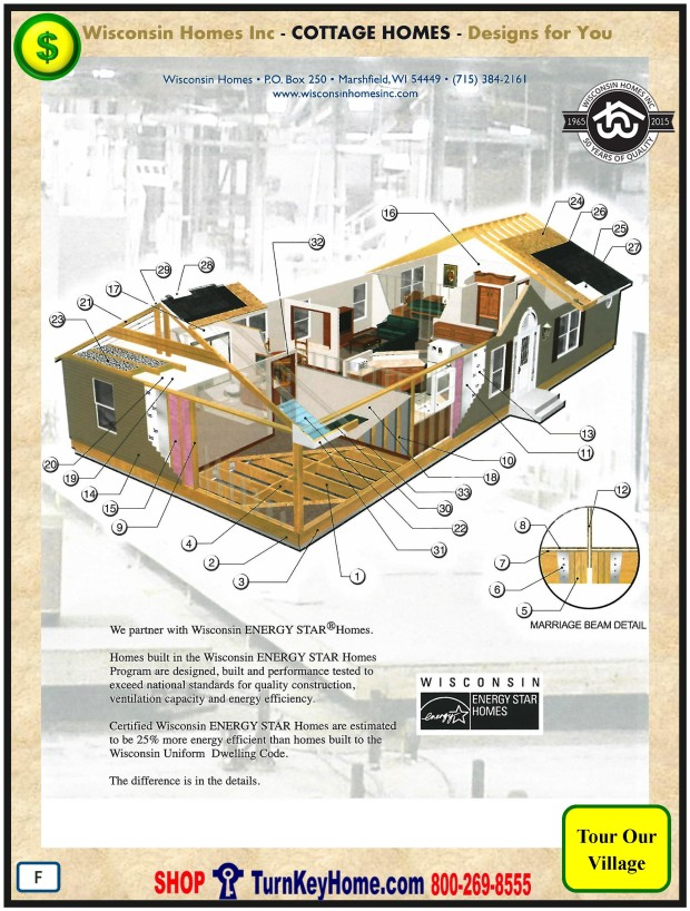 Modular.Home.Plan.Price.Catalog.Wisconsin.Homes.Inc.Cottage.Standards.PF.1215