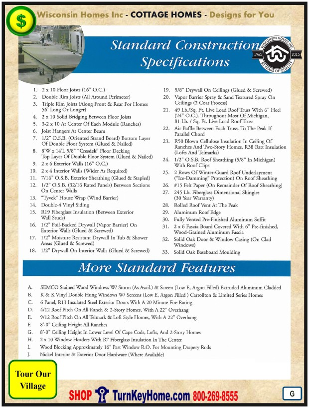 Modular.Home.Plan.Price.Catalog.Wisconsin.Homes.Inc.Cottage.Standards.PG.1215