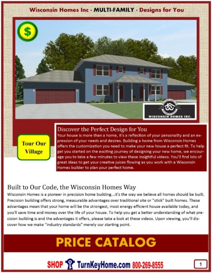 Multi Family Modular Home Prices FROM Wisconsin Homes Inc Multi Family and Duplex home plans