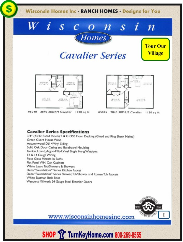 Modular.Home.Plan.Price.Catalog.Wisconsin.Homes.Inc.Ranch.Cavalier.Standards.PI.1215