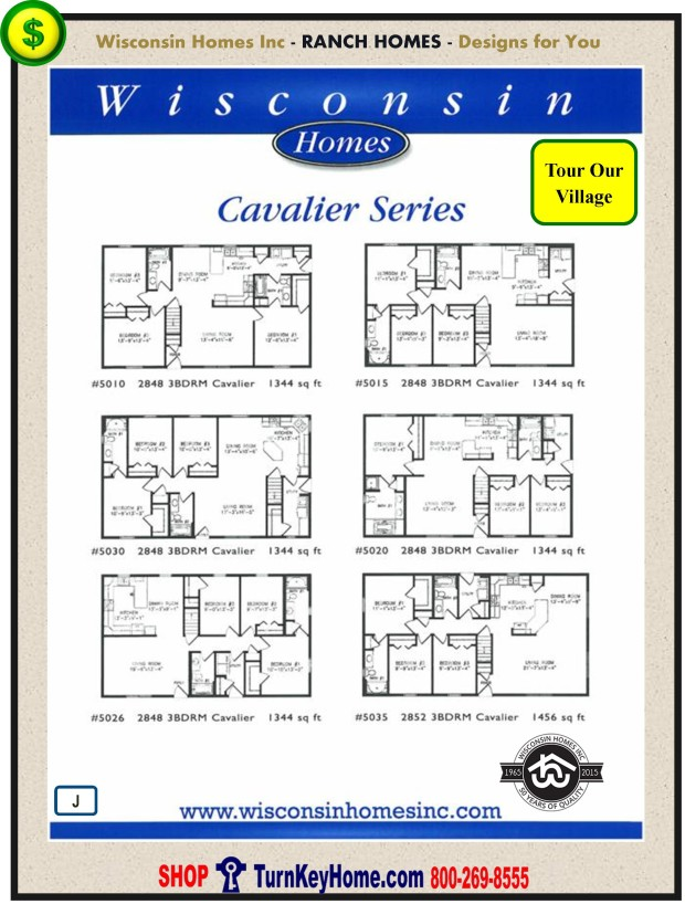 Modular.Home.Plan.Price.Catalog.Wisconsin.Homes.Inc.Ranch.Cavalier.Standards.PJ.1215