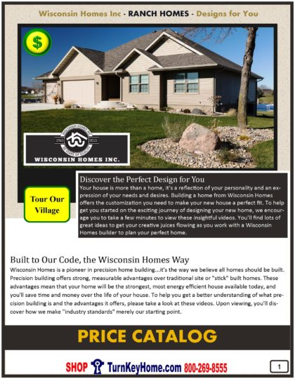 Ranch Modular Home Prices FROM Wisconsin Homes Inc ranch home plans