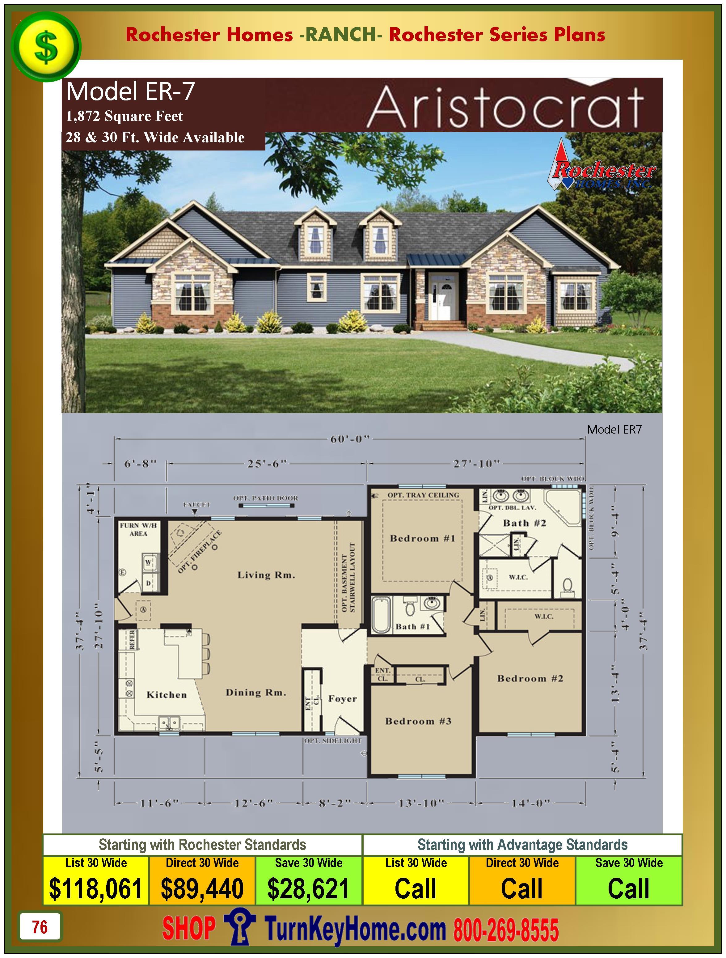 Modular.Homes.Rochester.Home.Inc.Aristocrat.ER7.Ranch.Plan.Price.Catalog.P76.1215
