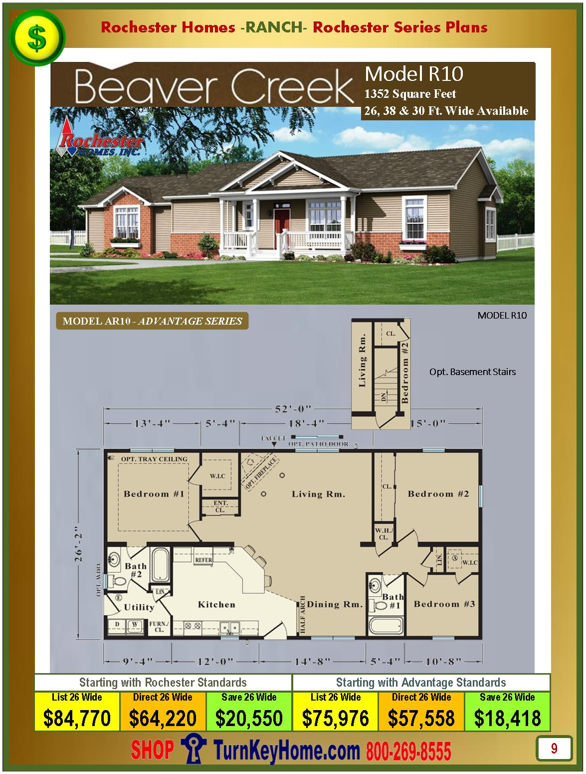 Modular.Homes.Rochester.Home.Inc.Beaver.Creek.R10.Ranch.Plan.Price.Catalog.P9.1215