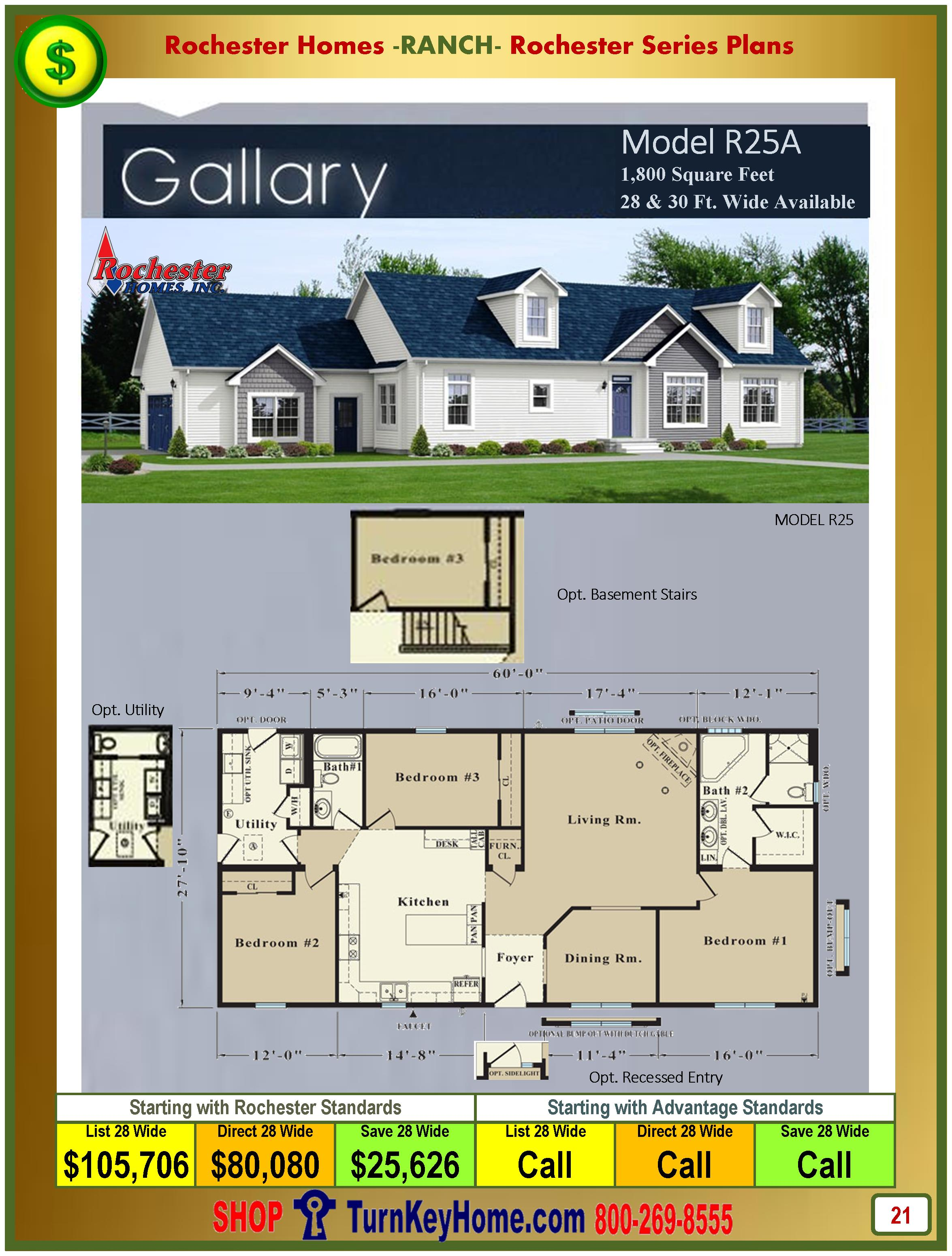 Modular.Homes.Rochester.Home.Inc.Gallery.R25A.Ranch.Plan.Price.Catalog.P21
