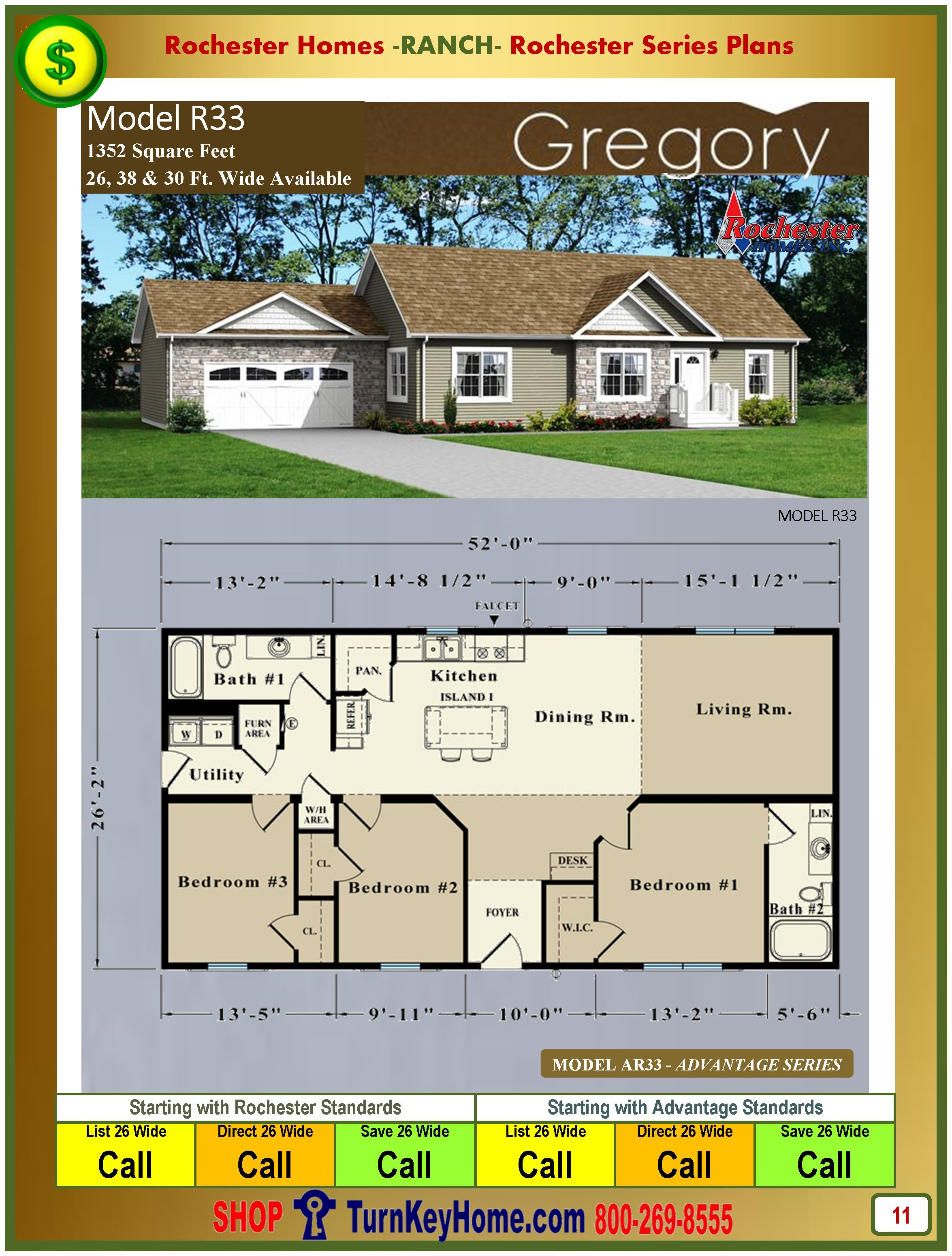 Modular.Homes.Rochester.Home.Inc.Gregory.R33.Ranch.Plan.Price.Catalog.P11.1215