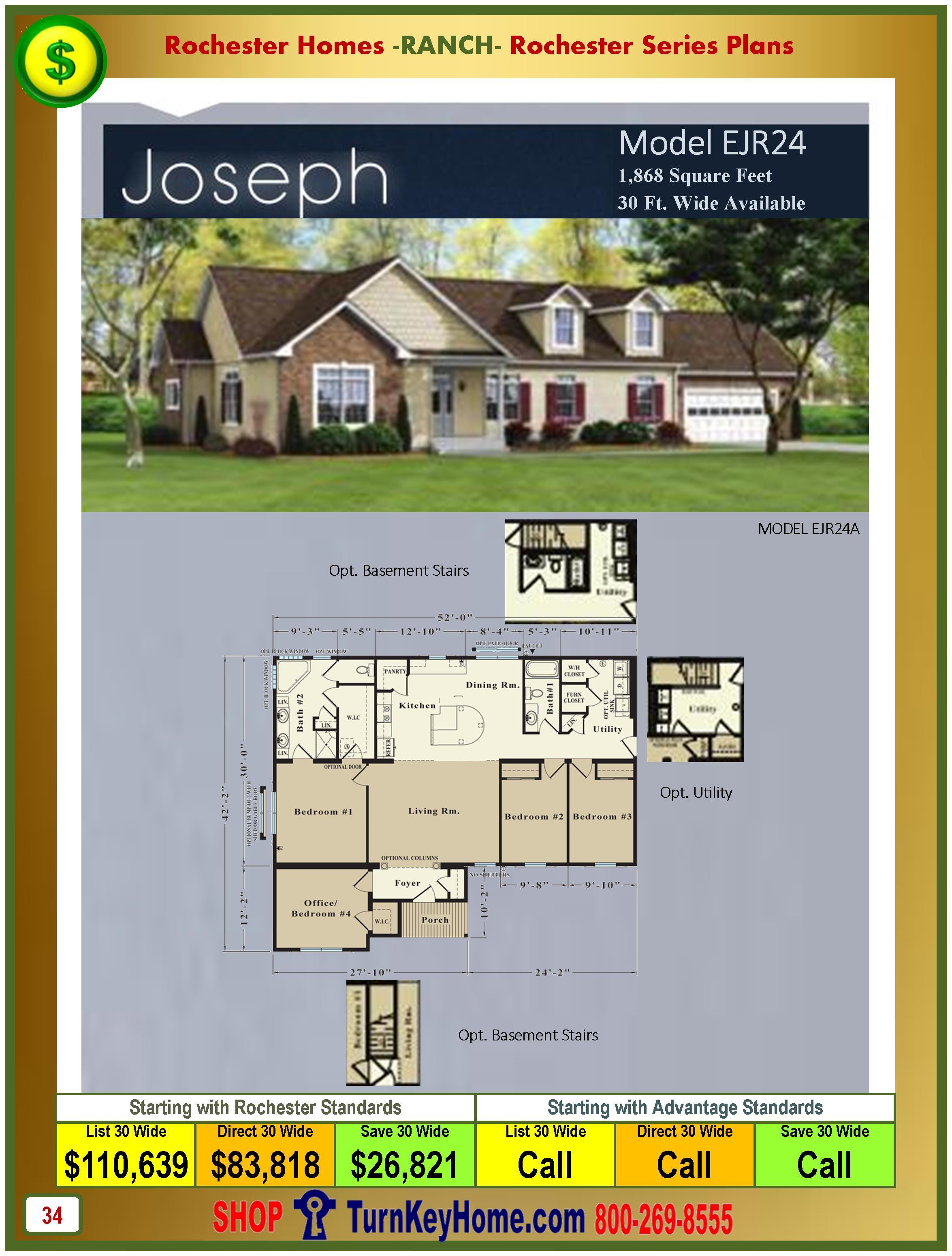 Modular.Homes.Rochester.Home.Inc.Joseph.EJR24.Ranch.Plan.Price.Catalog.P34.1215