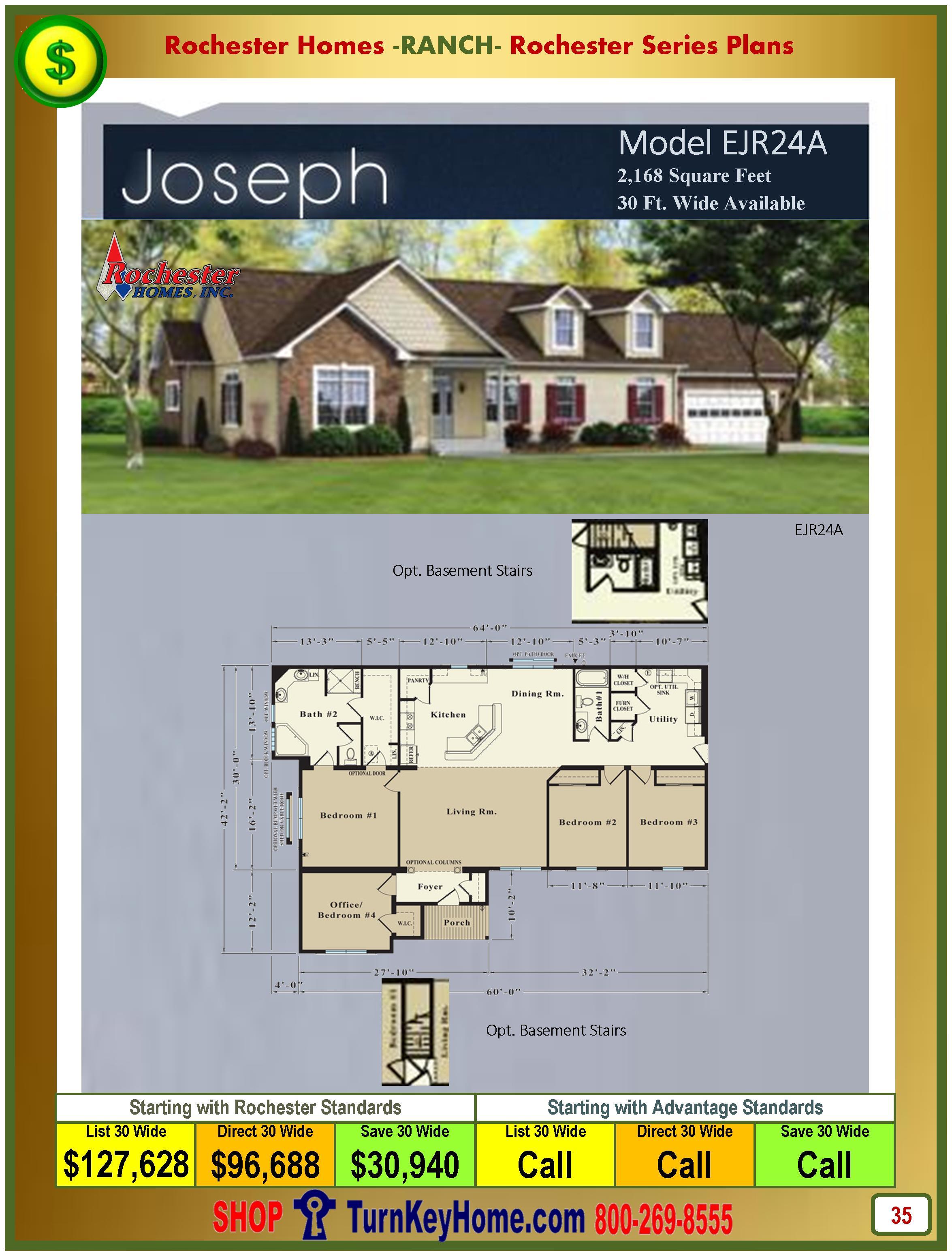 Modular.Homes.Rochester.Home.Inc.Joseph.EJR24A.Ranch.Plan.Price.Catalog.P35.1215