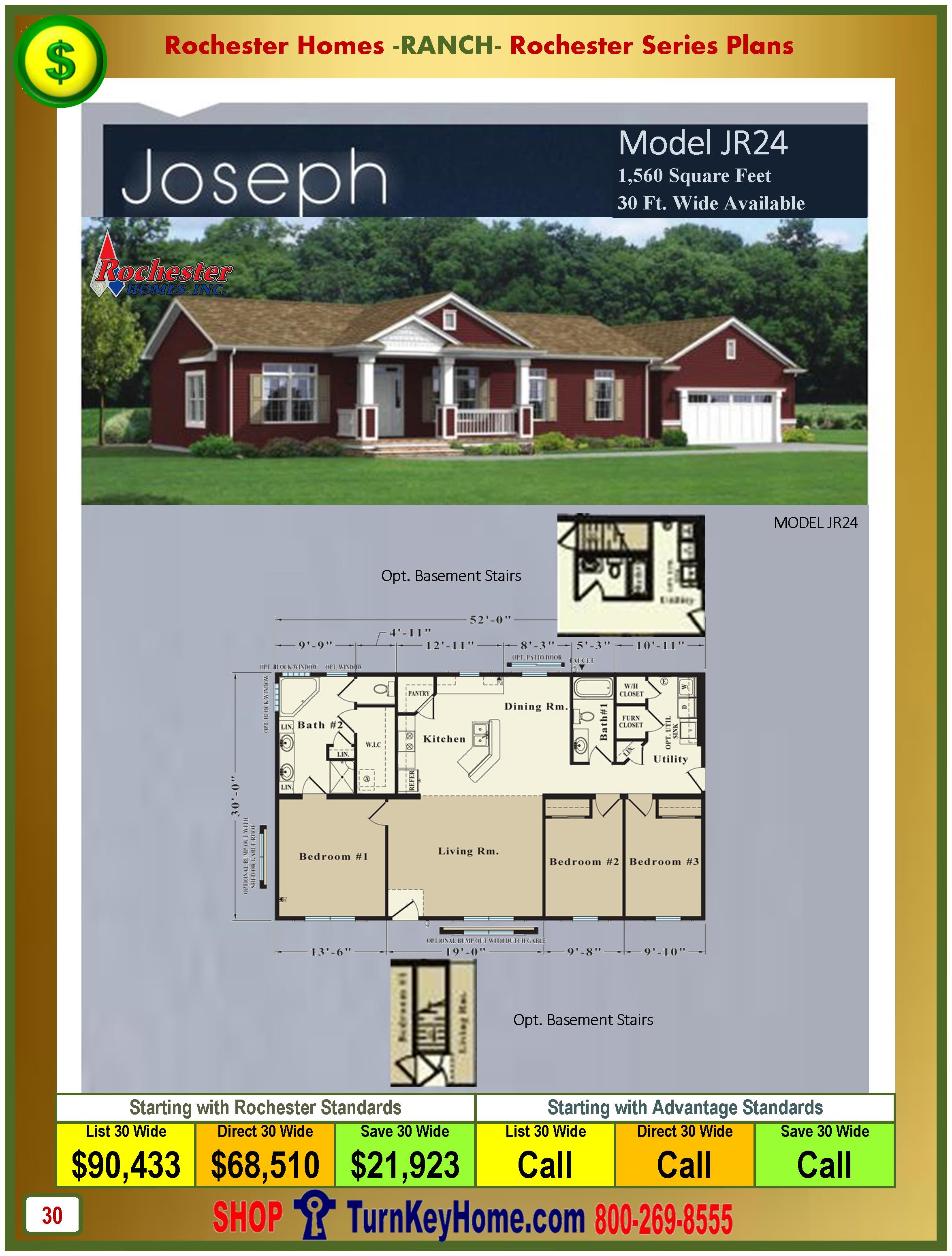 Modular.Homes.Rochester.Home.Inc.Joseph.JR24.Ranch.Plan.Price.Catalog.P30.1215