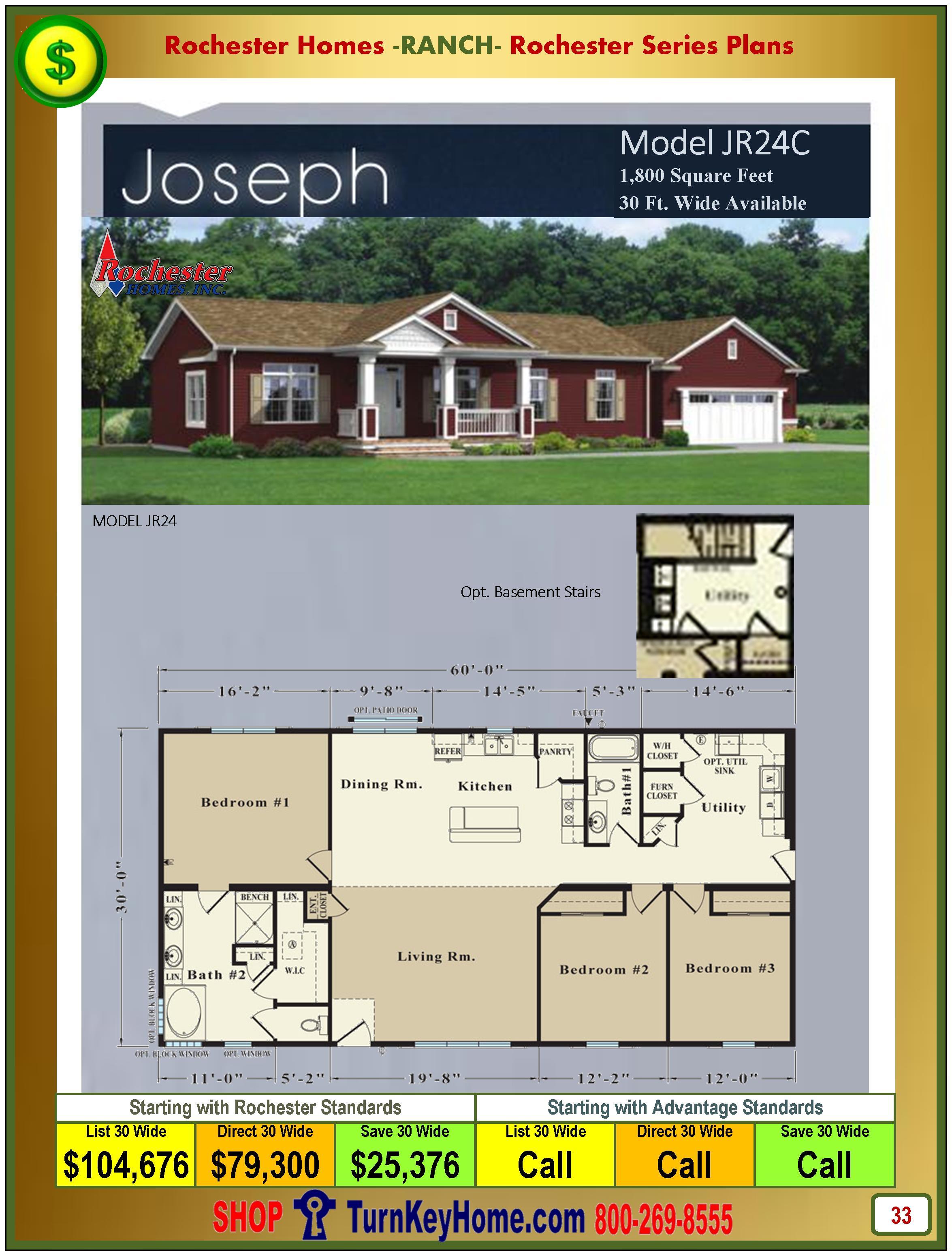 Modular.Homes.Rochester.Home.Inc.Joseph.JR24C.Ranch.Plan.Price.Catalog.P33.1215
