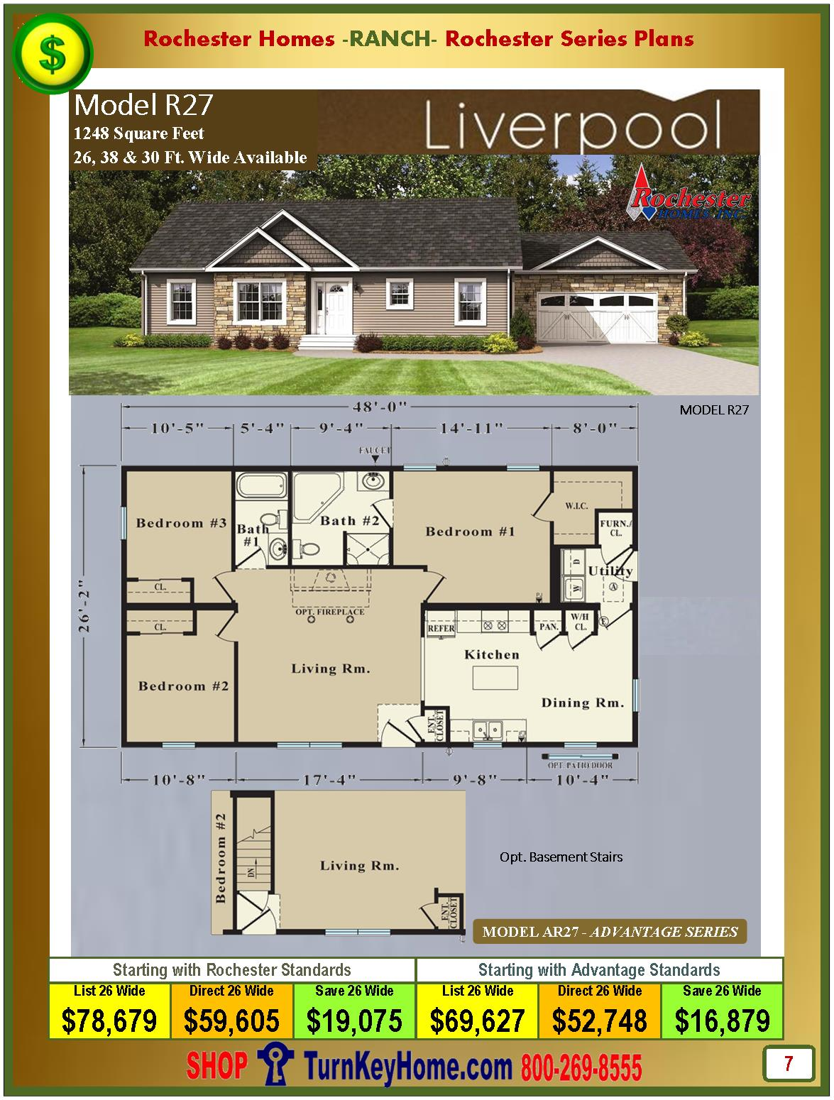 Modular.Homes.Rochester.Home.Inc.Liverpool.R27.Ranch.Plan.Price.Catalog.P7.1215
