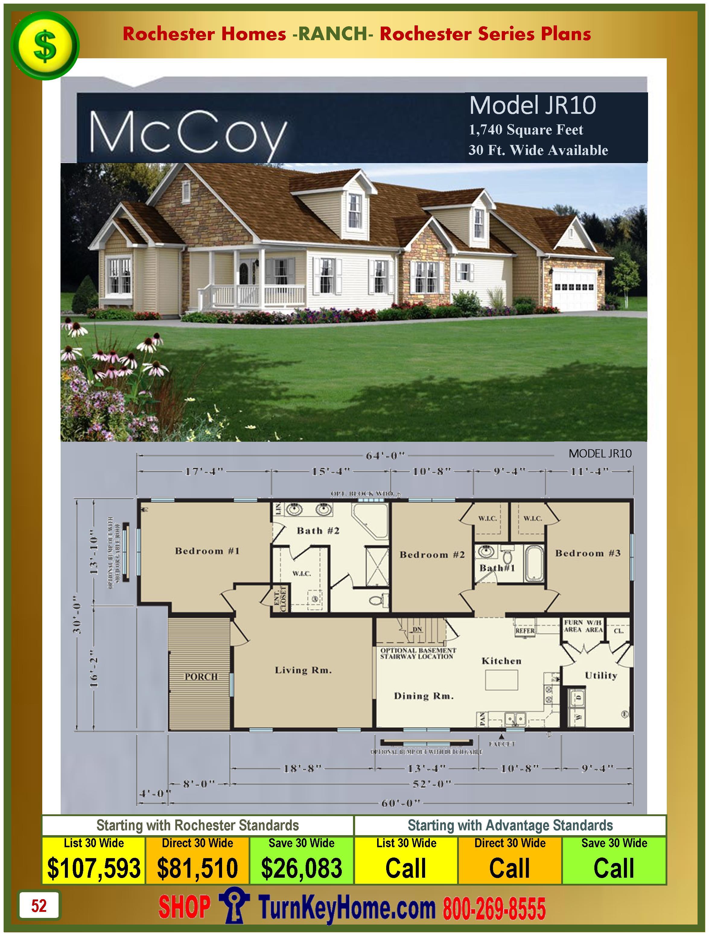 Modular.Homes.Rochester.Home.Inc.McCoy.JR10.Ranch.Plan.Price.Catalog.P52.1215