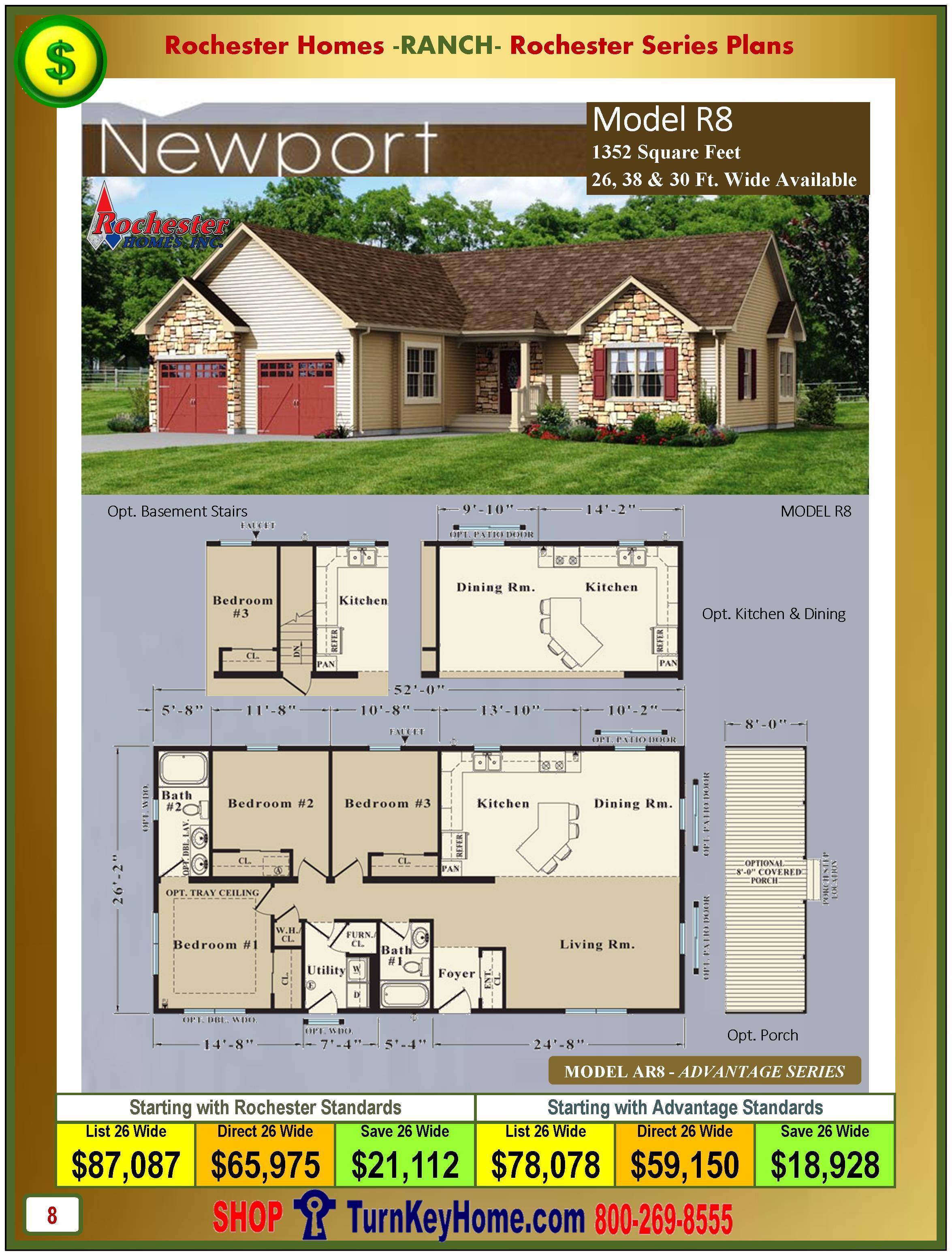 Modular.Homes.Rochester.Home.Inc.Newport.R8.Ranch.Plan.Price.Catalog.P8.1215