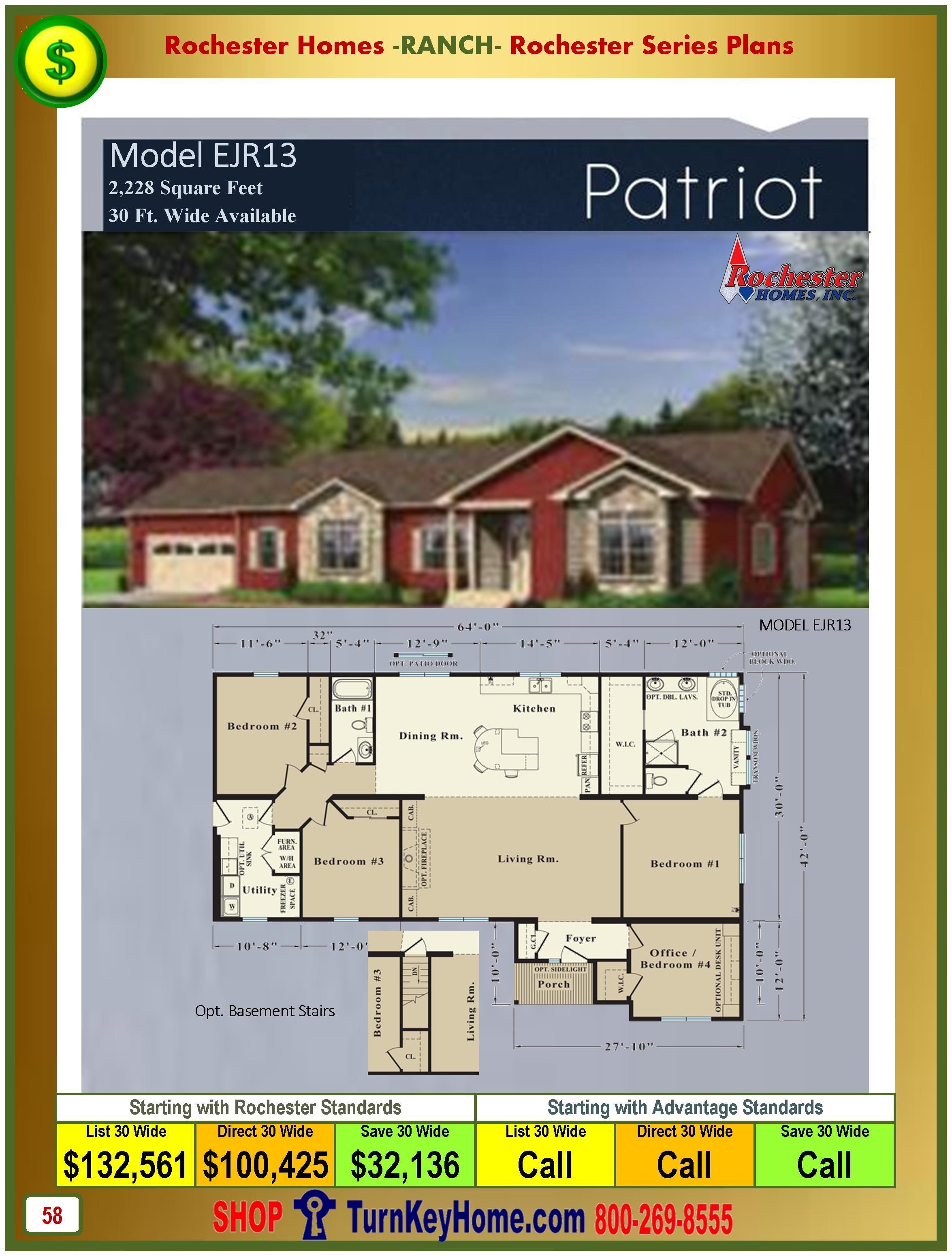 Modular.Homes.Rochester.Home.Inc.Patriot.EJR13.Ranch.Plan.Price.Catalog.P58.1215