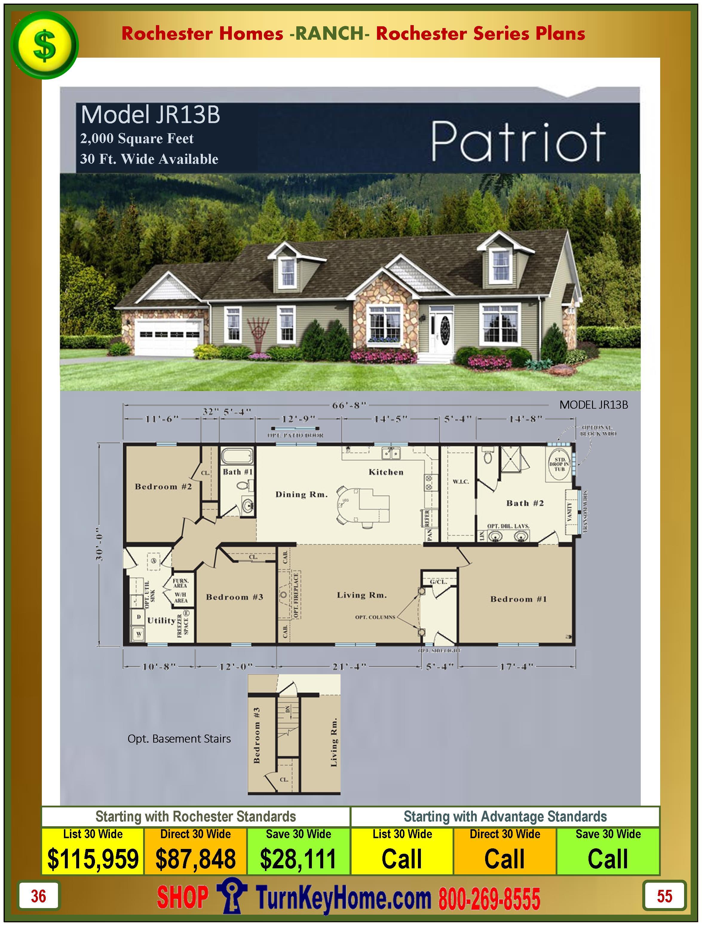Modular.Homes.Rochester.Home.Inc.Patriot.JR13B.Ranch.Plan.Price.Catalog.P55.1215