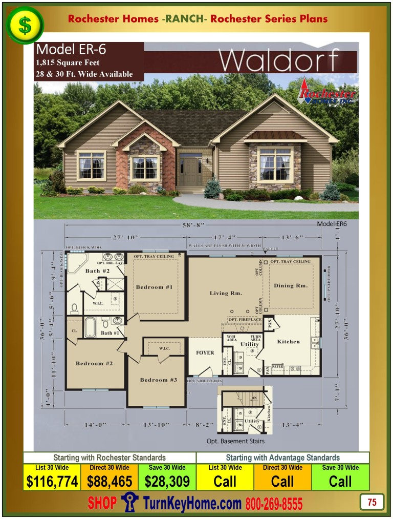 ranch home plan and price catalog rochester homes indiana