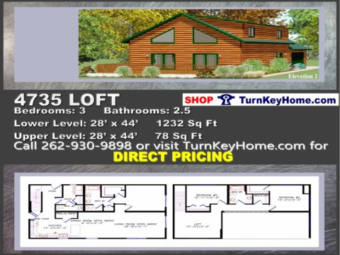 4735 loft e2 chalet style home 3 bed 25 bath plan priced from wisconsin homes inc modular plan designs - Chalet Style Modular Home Plans