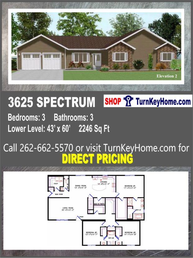 Excellent 3625 Spectrum E2 Ranch Home 3 Bed 3 Bath Plan 2246 Sf Priced Download Free Architecture Designs Momecebritishbridgeorg