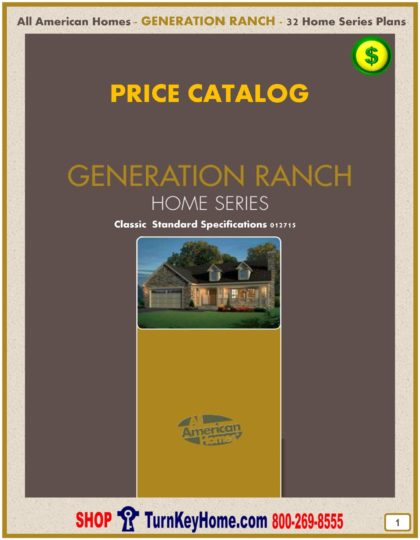 Generation Ranch Modular Home Prices FROM All American Homes Ranch Plans