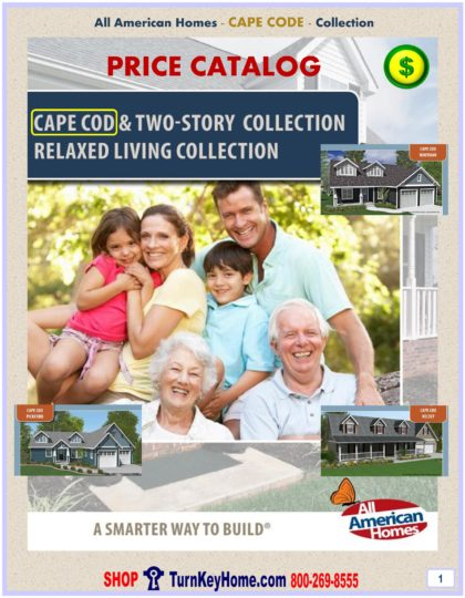 Cape Cod Modular Home Prices FROM All American Homes Cape Cod, Alpine, Chalet, Loft, Cabin, Lake Home and Cottage Home Plans