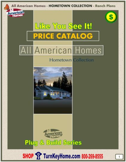 Hometown Modular Home Prices FROM All American Homes Ranch Home Plans