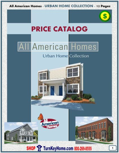 Urban City Modular Home Prices FROM All American Homes Urban, City, Metropolitan, Modern, Duplex, Multi Family, Town Homes, Row Houses and In Fill Home Plans
