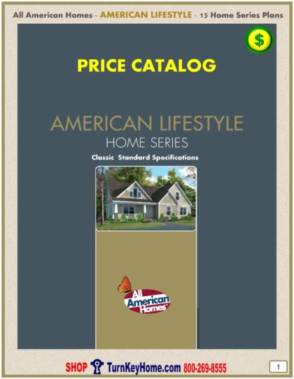 American Lifestyle Modular Home Prices FROM All American Homes Ranch, Cape Cod, Loft and Two Story Home Plans