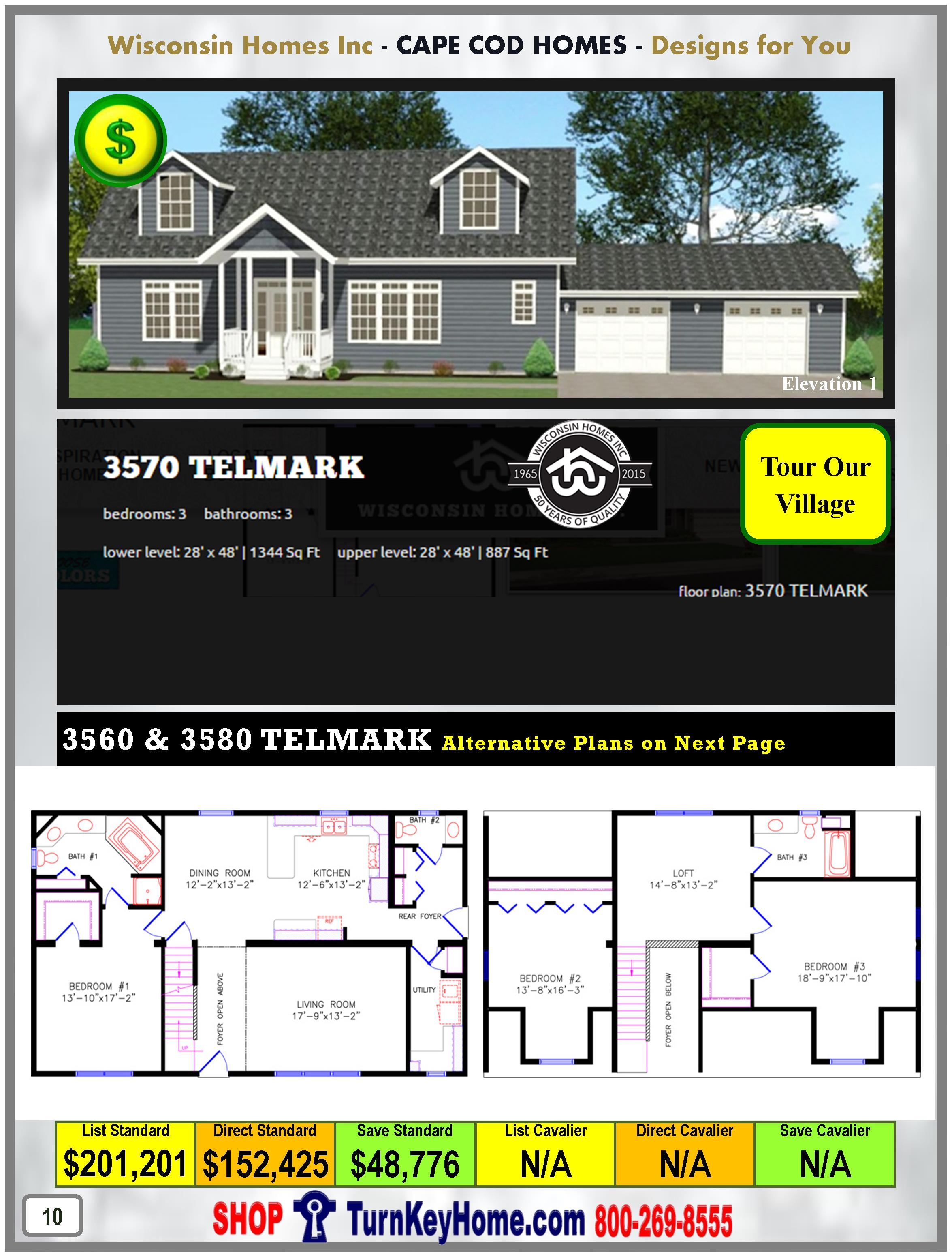 Modular.Home.Catalog.Wisconsin.Homes.Inc.Cape.Cod.Telmark.3570.1.P10.1215