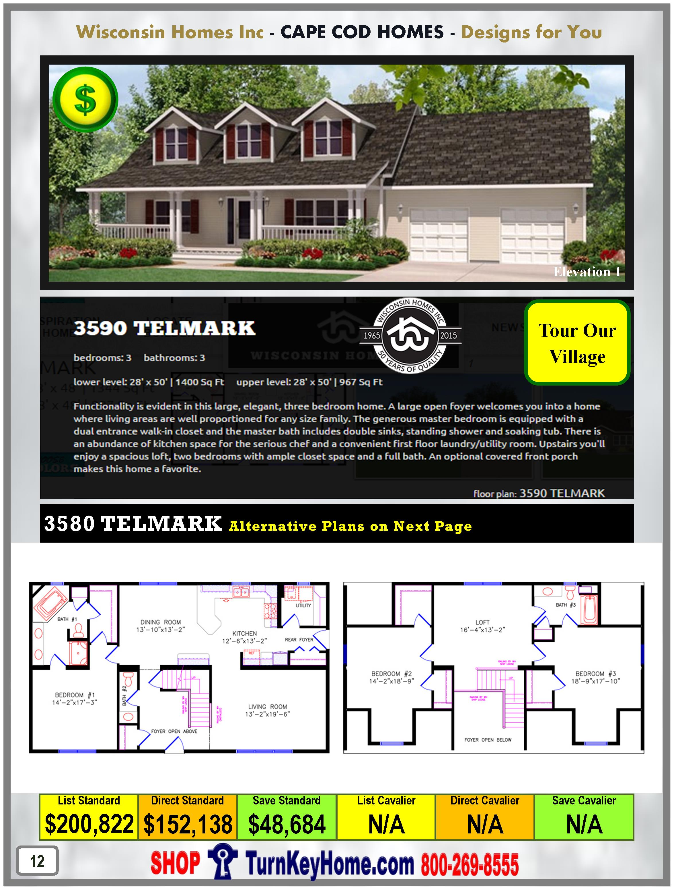 Modular.Home.Catalog.Wisconsin.Homes.Inc.Cape.Cod.Telmark.3590.1.P12.1215