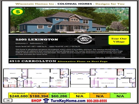 Modular.Home.Catalog.Wisconsin.Homes.Inc.Colonial.Lexington.5205.1.P14.1215.p