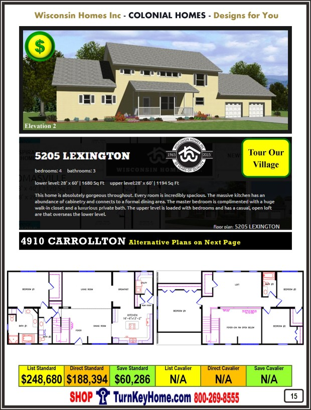Modular.Home.Catalog.Wisconsin.Homes.Inc.Colonial.Lexington.5205.2.P15.1215