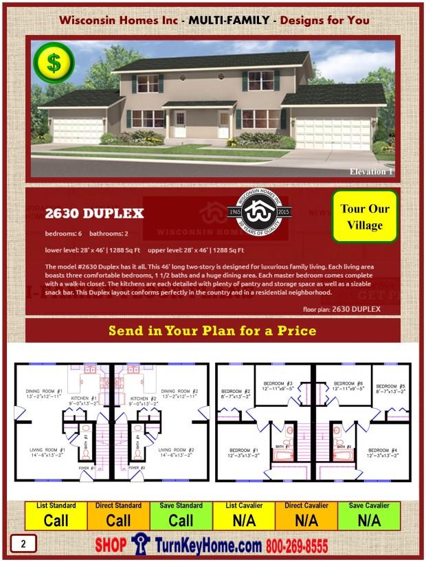 Modular.Home.Catalog.Wisconsin.Homes.Inc.Multi.Family.Duplex.2630.1.P2.0116