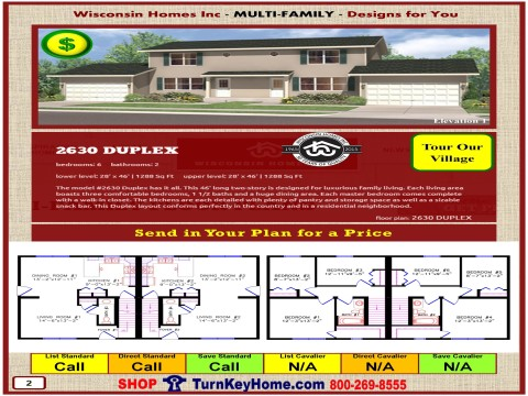 Modular.Home.Catalog.Wisconsin.Homes.Inc.Multi.Family.Duplex.2630.1.P2.0116.p