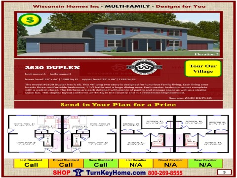 Modular.Home.Catalog.Wisconsin.Homes.Inc.Multi.Family.Duplex.2630.2.P3.0116.p