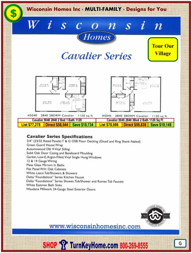 Modular.Home.Plan.Price.Catalog.Wisconsin.Homes.Inc.Cavalier.Plans.Prices.Standards.PG.0116